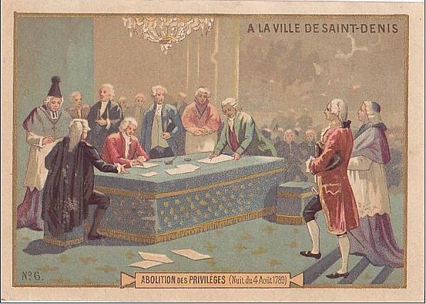 Abolition des privilèges, 4 août 1789 République : les libertés perdues