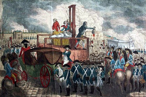Décapitation de Louis XVI le 21 janvier 1793. © Collection Musée de l'Histoire vivante – Montreuil
