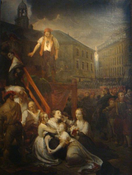 L'exécution des sœurs La Métairie, huile sur toile de Auguste-Hyacinthe Debay, 1838. (Château des ducs de Bretagne, Nantes).